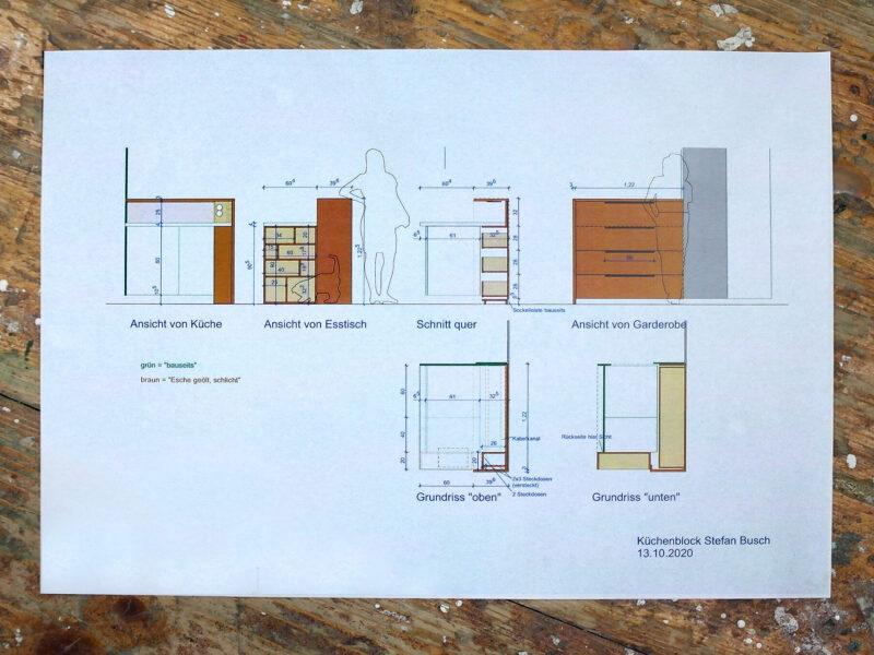 Plan Küchenblock